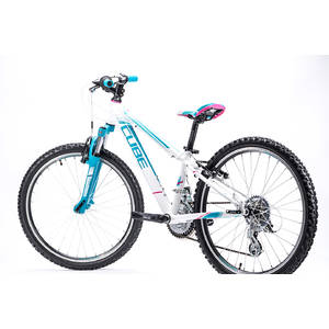 Bicicleta Cube Kid 240 Girl White Blue 2016