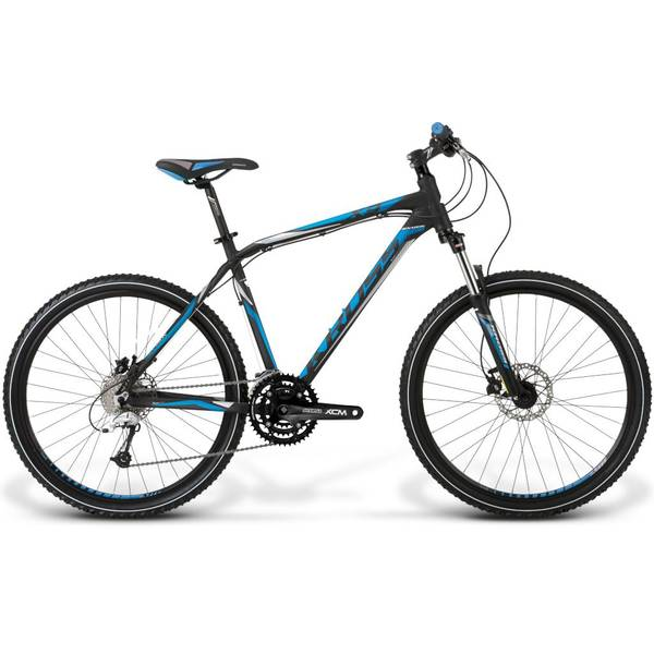 Bicicleta Kross Hexagon X9 M black-blue-white matte 2014