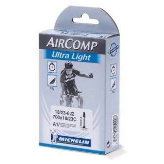 Camera bicicleta MICHELIN AIRCOMP ULTRALIGHT 700x18/23C cu valva PRESTA