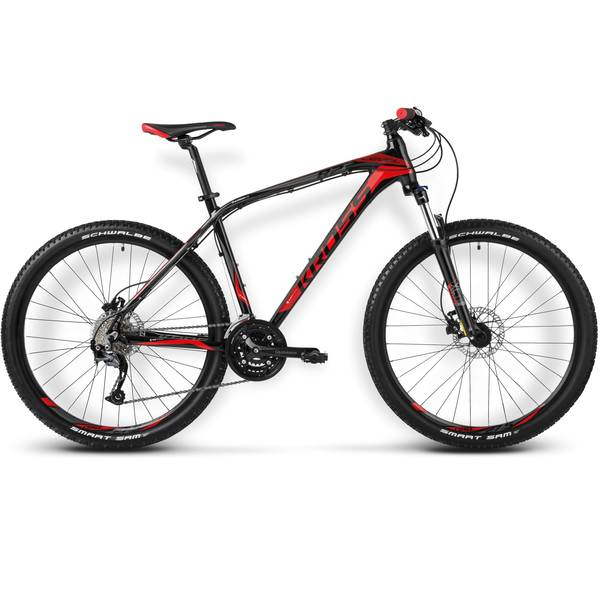 Bicicleta Kross Level R2 black red white 2014