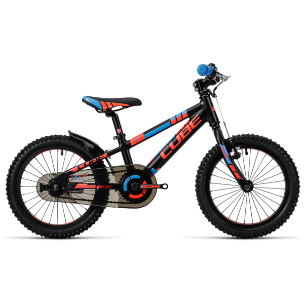 Bicicleta Cube Kid 160 black/flashred/blue 2016