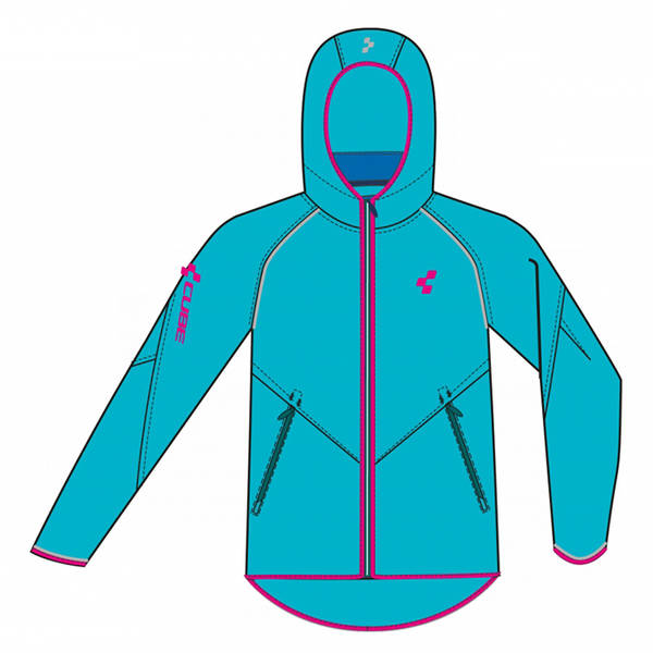 Cube Jacket Junior Softshell turcoaz/roz
