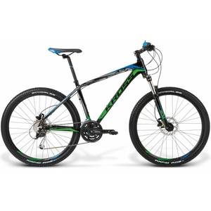 Bicicleta Kross Level A3 black-green-blue