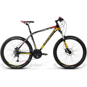 Bicicleta Kross Level A4 black-yellow-red matte 2014