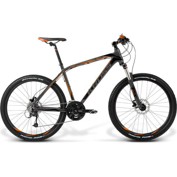 Bicicleta Kross Level A4 L graphite-black-orange matte 2014