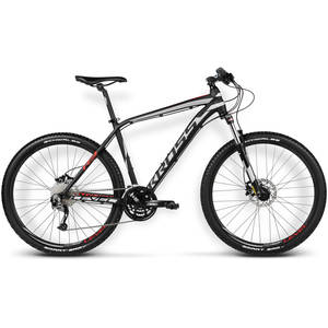 Bicicleta Kross Level R3 black-silver-red matte 2016