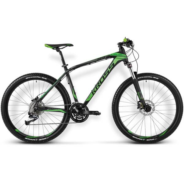 Bicicleta Kross Level R3 black-green matte 2015