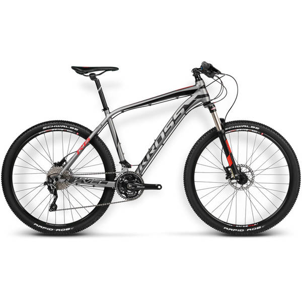 Bicicleta Kross Level R6 graphite-black-red matte 2016