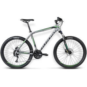 Bicicleta Kross Hexagon X6 graphite-black-green matte 2016