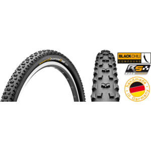 Cauciuc Continental Mountain King 2 RaceSport BlackChili 27.5x2.2 pliabil