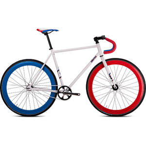 Bicicleta Drag Stereo Fixie 550 White Blue Red