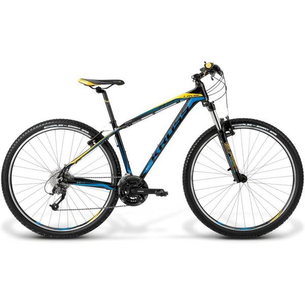 Bicicleta Kross Level B2 black-blue-yellow-glossy