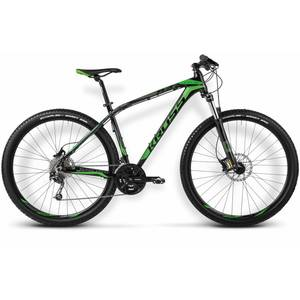 Bicicleta Kross Level B4 S black-green glossy 2015