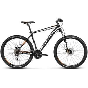 Bicicleta Kross Level R2 black-white-orange matte 2017