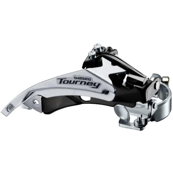 Schimbator foi Shimano Tourney FD-TY500-TS6, tragere dubla, colier 34.9mm (+31.8 28.6)