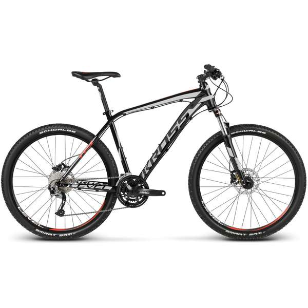 Bicicleta Kross Level R3 black-silver-red 2017