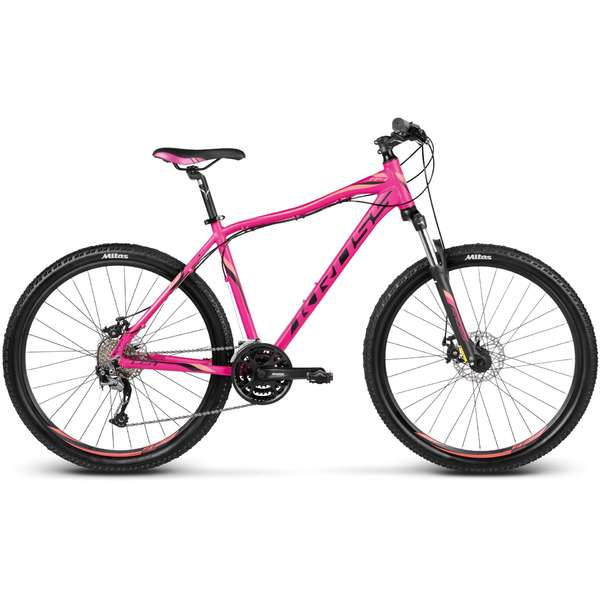 Bicicleta Kross Lea R4 pink black orange 2017 S