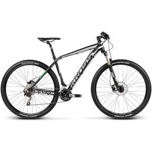 Bicicleta Kross Level B5 black silver green 2017