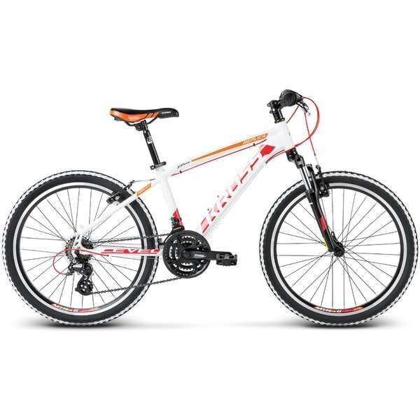 Bicicleta Kross Level Replica white red orange 2017