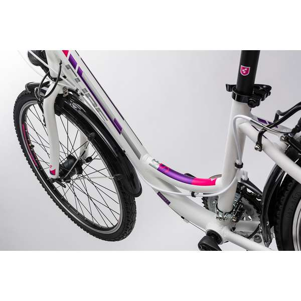 Bicicleta Cube Kid 240 Street white purple 2017
