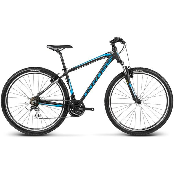 Bicicleta Kross Hexagon B3 black blue silver matte 2017