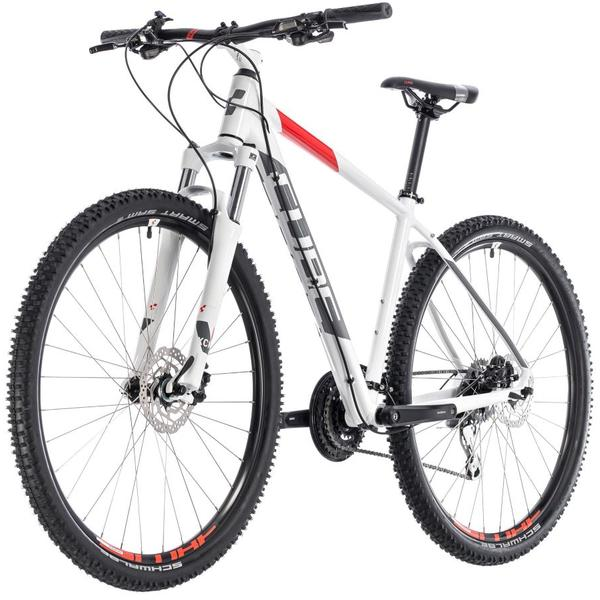 Bicicleta Cube Aim Race 29 White Red 2018