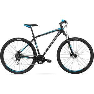 Bicicleta Kross Hexagon 5.0 27.5 Black Graphite Blue Mat 2018