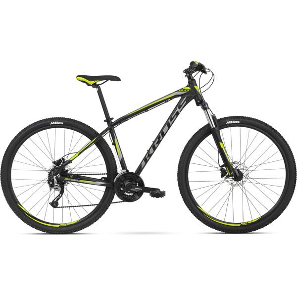 Bicicleta Kross Hexagon 6.0 27 Black Graphite Lime Mat 2018