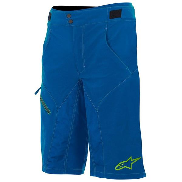 Alpinestars Pantaloni scurti Outrider Water Resistant Base Shorts dark blue/lime