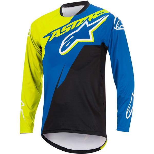 Bluza Alpinestars Sight Contender Long Sleeve Jersey royal blue/acid yellow