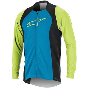 Drop 2 Full Zip Long Sleeve Jersey bright blue/green