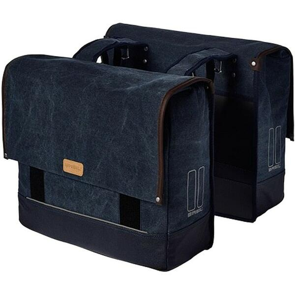 BASIL Urban Fold-Double Bag blue
