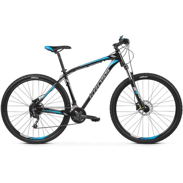 Bicicleta Kross Hexagon 7.0 27.5 Black Graphite Blue Glossy 2019