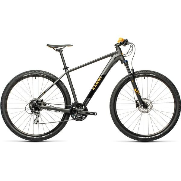 Bicicleta Cube AIM RACE DarkGrey Orange 2021