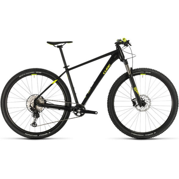 Bicicleta BICICLETA CUBE REACTION PRO Black Flashyellow 2020