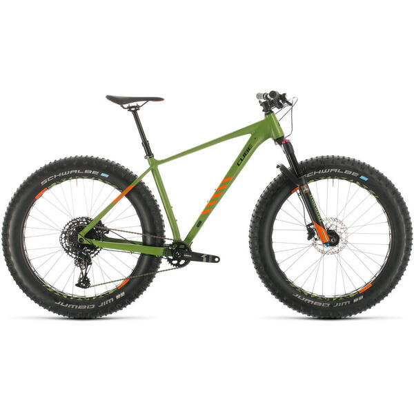 Bicicleta BICICLETA CUBE NUTRAIL Green Orange 2020