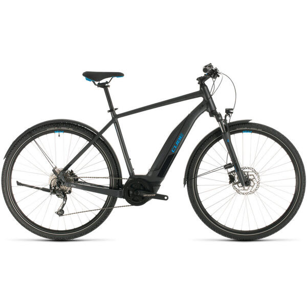 Bicicleta BICICLETA CUBE NATURE HYBRID ONE 500 ALLROAD Iridium Blue 2020