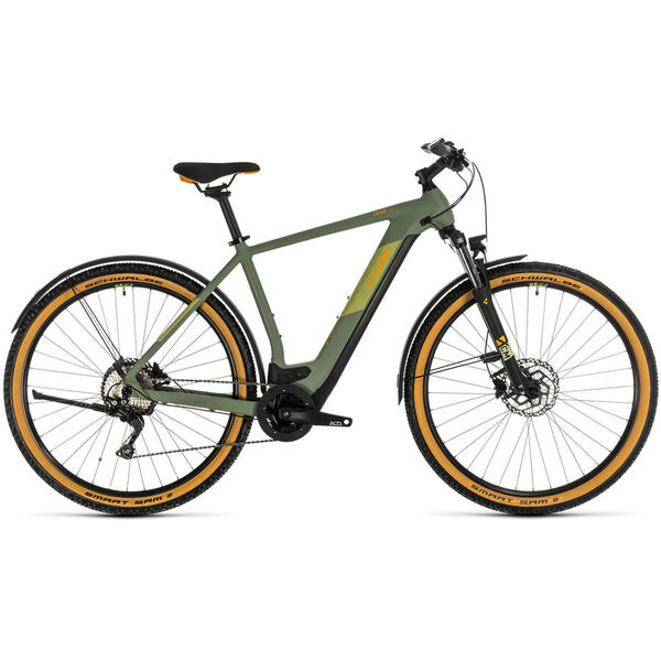 Bicicleta BICICLETA CUBE CROSS HYBRID PRO 500 ALLROAD Green Orange 2020