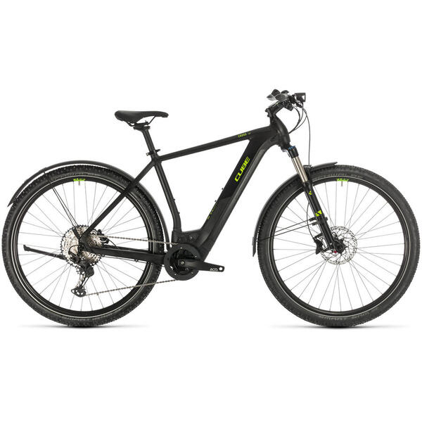 Bicicleta BICICLETA CUBE CROSS HYBRID RACE 500 ALLROAD Black Green 2020