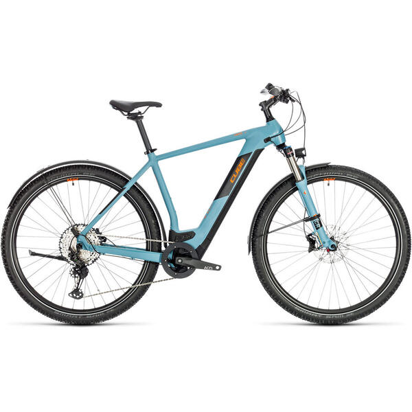 Bicicleta BICICLETA CUBE CROSS HYBRID RACE 625 ALLROAD Blue Orange 2020