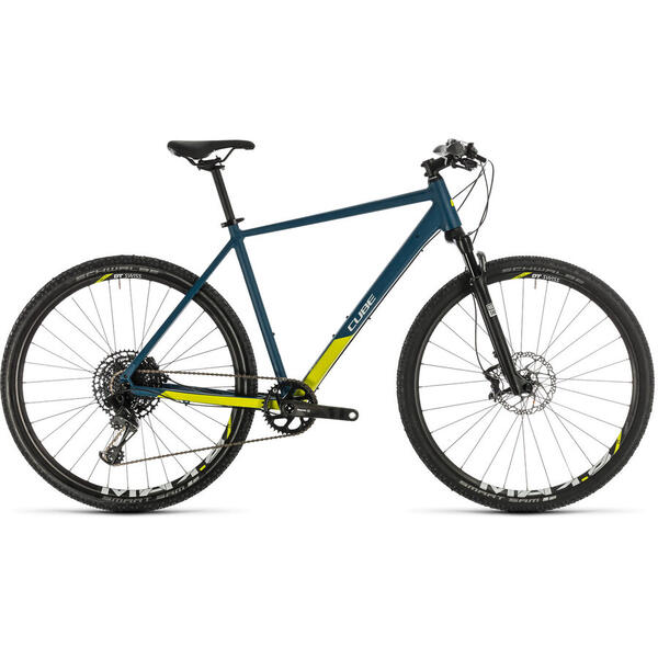 Bicicleta BICICLETA CUBE CROSS SL Blue Lime 2020
