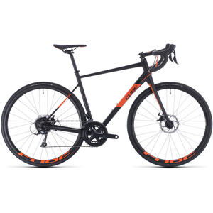 BICICLETA CUBE ATTAIN PRO Black Orange 2020