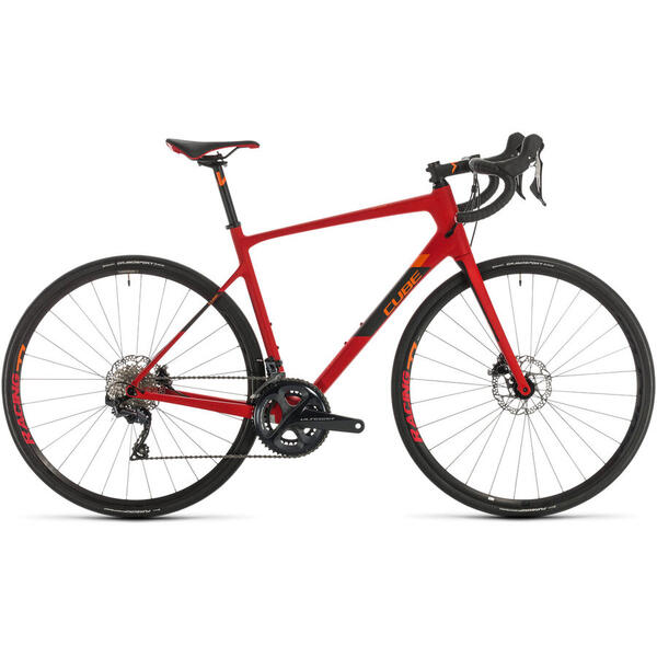 Bicicleta BICICLETA CUBE ATTAIN GTC SL Red Orange 2020