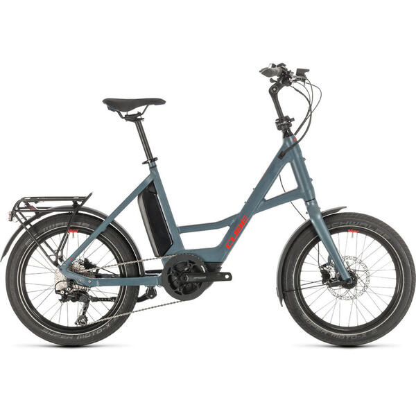 "Bicicleta BICICLETA CUBE 20"" COMPACT SPORT HYBRID Blue Red 2020"