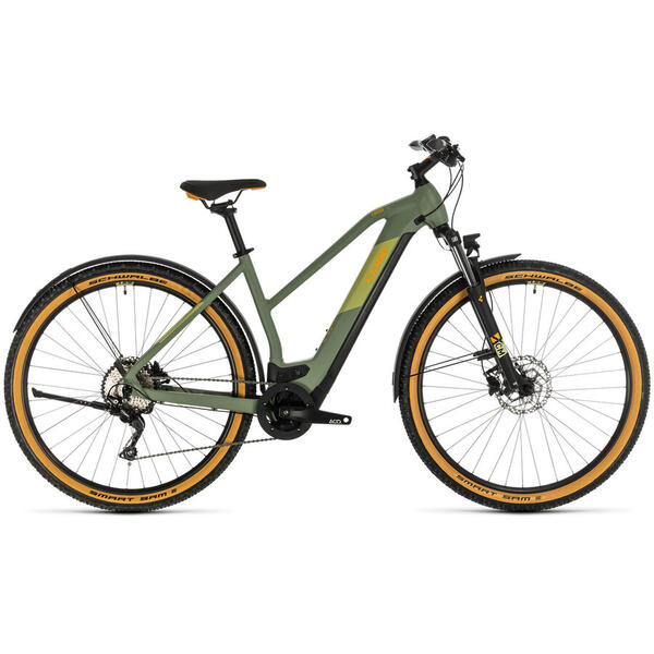 Bicicleta BICICLETA CUBE CROSS HYBRID PRO 500 ALLROAD TRAPEZE Green Orange 2020