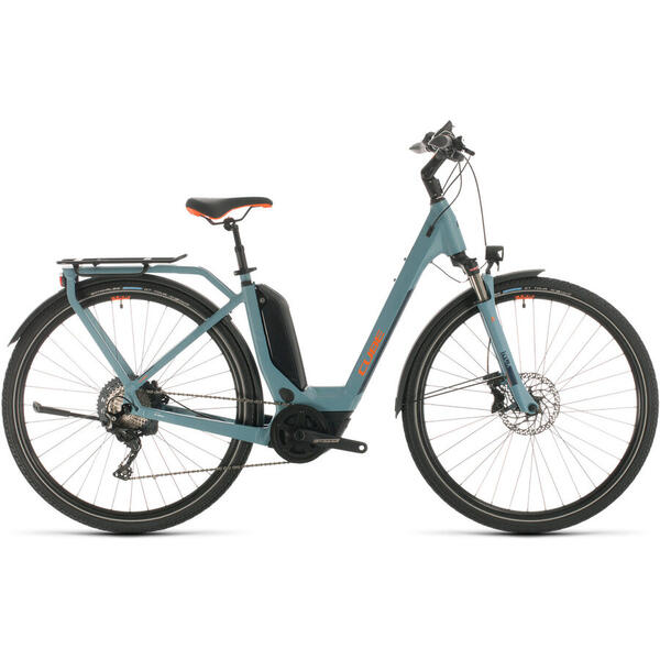 Bicicleta BICICLETA CUBE TOURING HYBRID EXC 500 EASY ENTRY Blue Orange 2020