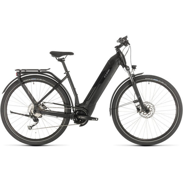 Bicicleta BICICLETA CUBE KATHMANDU HYBRID ONE 500 EASY ENTRY Black Grey 2020