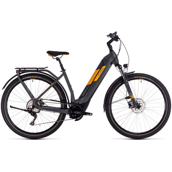 Bicicleta BICICLETA CUBE KATHMANDU HYBRID PRO 500 EASY ENTRY Grey Orange 2020