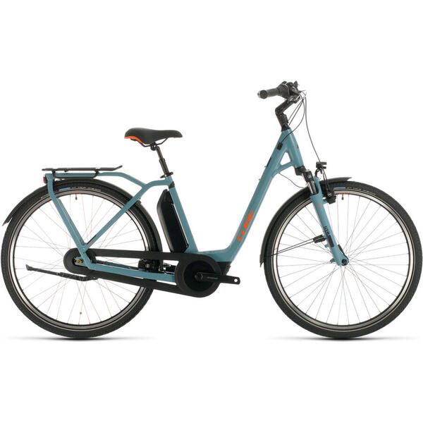 Bicicleta BICICLETA CUBE TOWN HYBRID PRO 500 EASY ENTRY Blue Orange 2020