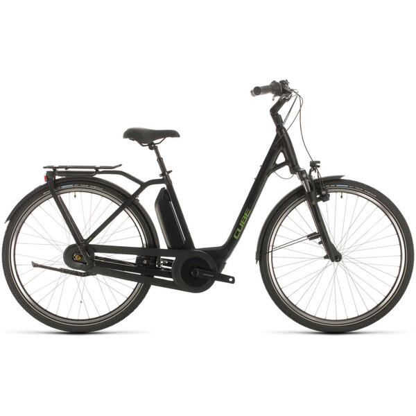 Bicicleta BICICLETA CUBE TOWN HYBRID PRO RT 500 EASY ENTRY Black Green 2020